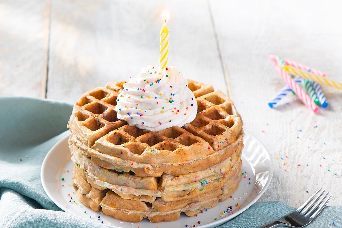 TwinkiesTM Birthday Cake Waffles